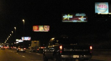 Outdoor advertising and light pollution