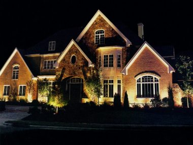 Vanity lighting on houses wastes energy and harms the environment.