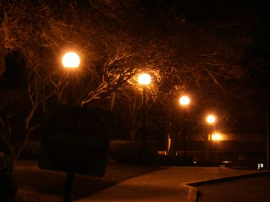 Globe-type outdoor lights are no longer acceptable.