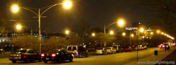 Inefficient street lighting wastes energy.