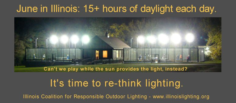 Nighttime sports lighting disrupts the natural environment.